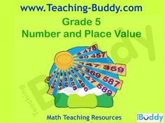 Number and Place Value Grade 5 teaching resources