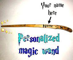 Custom name Magic wand. Personalized custom name magic by NayasArt