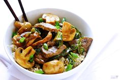 Ginger Beef, Mushroom & Kale Stir Fry 2 swap out soy sauce for coconut aminos and swap out corn starch for tapioca flour stuff.