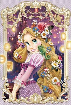 Photo of Elegant Frame Series Lenticular Card - Rapunzel for fans of Disney Princess 40115829 Princesa Ariel Disney, Disney Princess Rapunzel, Disney Princess Drawings, Disney Princess Pictures, Princess Cartoon, Disney Tangled, Disney Drawings, Drawing Disney, Cinderella Disney