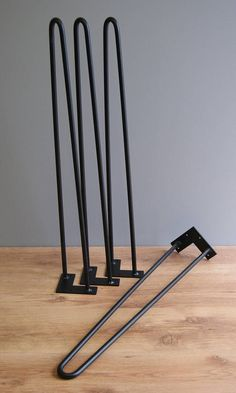 Hairpin legs 12 mm inch) / 2 rod all sizes - coffee table legs, furniture feet, bench legs, table legs - - Welding Table, Welding Art, Woodworking Projects Diy, Welding Projects, Steel Furniture, Diy Furniture, Furniture Design, Kids Homework Station, Laser Cut Steel