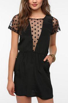 Johann Earl Polka Dot Sleeve Dress.  I Love Urban Outfitters <3