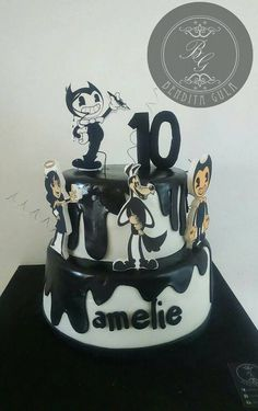 Bendy And The Ink Machine Cake Party Ideas Cake