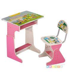 Birou copii cu scaunel reglabile HC160 Babyland