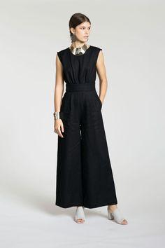No. 6 SALE 20% OFF- Black Linen Isabella Jumpsuit   BONA DRAG