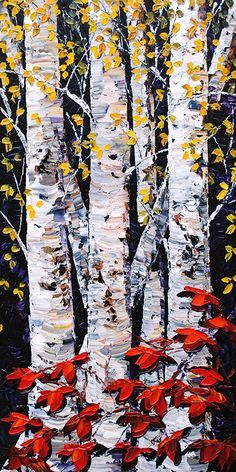 41 Ideas Birch Tree Illustration Canvases For 2019 Watercolor Trees, Watercolor Paintings, Birch Tree Art, Tree Illustration, Landscape Quilts, Tree Photography, Canvas Wall Art, Aspen, Crafts
