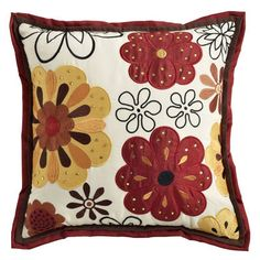 Spice Applique Flanged Pillow
