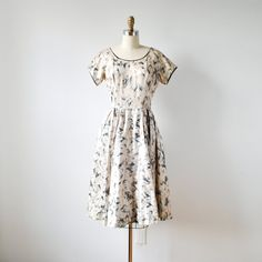 vintage 1950s satin party dress by RockAndRollVintage, $220.00