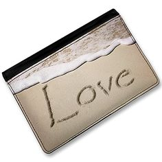 RFID Passport Holder Love in English language written on beach Cover Case  Wa * See this great product. Note:It is Affiliate Link to Amazon.
