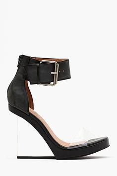 Jeffrey Campbell Event Platform Wedges - transparant strap and heel