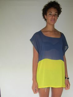 two-tone dress/tunic $90 from ouiboutique on Etsy