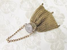 Victorian Mesh Gate Top Chatelaine Purse by GrandVintageFinery