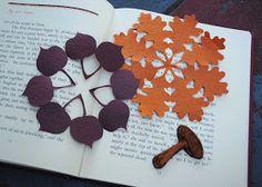 zakka life: Craft: Kirigami Fall Decorations Paper Leaves