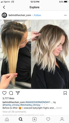 Hair Color Trends In 2019 Before & After: Highlights On Hair + Tips;Trendy Hairstyles And Colors Women Hair Colors; Color Trends In 2019 Before & After: Highlights On Hair + Tips;Trendy Hairstyles And Colors Women Hair Colors; Blonde Ombre Short Hair, Brown To Blonde Ombre, Brown Hair With Highlights, Ombre Hair Color, Hair Color Balayage, Hair Colors, Color Highlights, Balayage Ombre, Blonde Color
