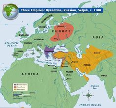 Three Empires: Byzantine, Russian, Seljuk, C. 1100