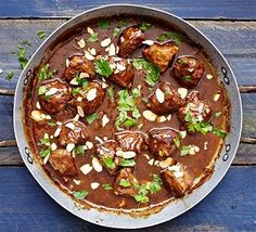 Sherry-braised pork cheeks. Cook this offcut of pork in a Spanish-inspired sauce of sweet sherry, cumin, paprika, parsley and almonds- it's a great addition to a tapas spread