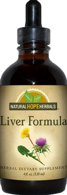 Natural Herbal Tincture Liver Formula Health Supplement Cleansing Detoxifying Detox Formula Tonic Organic Certified USA
