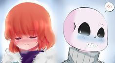 Undertale : Sans and Frisk by TsurunagI on DeviantArt Sans E Frisk, Undertale Love, Undertale Fanart, Otp, Comic Boards, Real Monsters, Toby Fox, Apple Model, Song Play