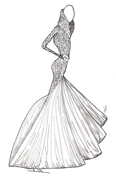 463 best Gown Illustrations images on Pinterest in 2018