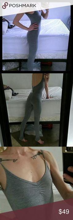 NWOT AMERICAN APPAREL unitard bodysuit Size medium grey. My favorite thing ever. I bought like 4. Fits small or medium. No longer has tags on. American Apparel Pants Jumpsuits & Rompers