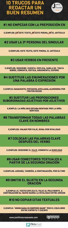 articuloseducativos.es: 10 Trucos para redactar un resumen. [INFOGRAFÍA]