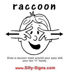 Sign Language - learn the Sign Word for RACCOON!