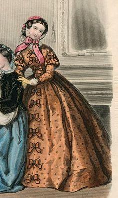 1860 rust dress