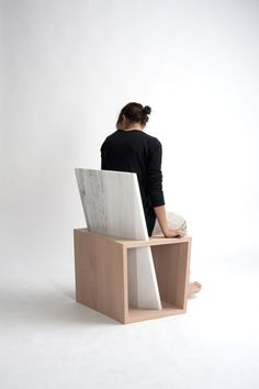 cool chair.  something to use extra stone slabs