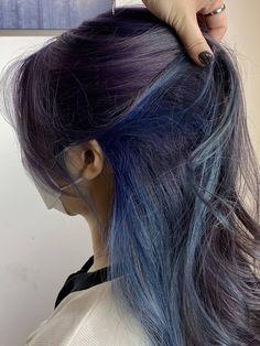 Kpop Hair Color, Two Color Hair, Korean Hair Color, Girl Hair Colors, Men Hair Color, Hair Color Purple, Brown And Pink Hair, Short Blue Hair, Blue Hair Underneath