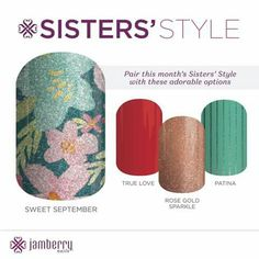 This month's Sister Style Wrap #prettynails   https://cowgirlsbejammin.jamberry.com/au/en/