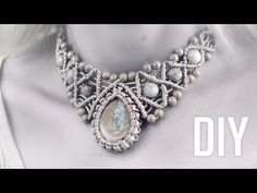 (112) How to Wrap a Stone and Make Macramé Necklace | DIY - YouTube