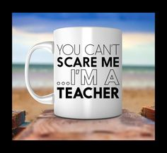 Si non può spaventare Me Im un boccale di insegnante, insegnante, insegnante gifts, insegnante tazza, regali per regali di compleanno, insegnante, tazza di tè, tazza di caffè, tazza di tè