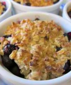 Individual Blueberry Crisps