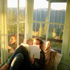 What a beautiful reading spot!