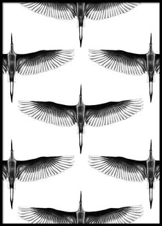 Crane pattern Poster in the group Posters & Prints / Illustrations at Desenio AB