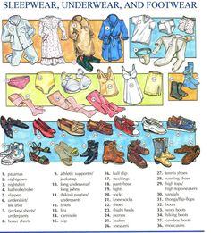 A little Brit of us: Clothes - Vocabulary English File, English Study, English Class, English Lessons, Learn English, Danish Language, English Language, English Vocabulary Words, English Phrases