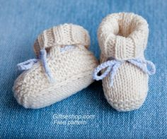 Free Knitting Pattern Baby Booties Uggs                                                                                                                                                      More