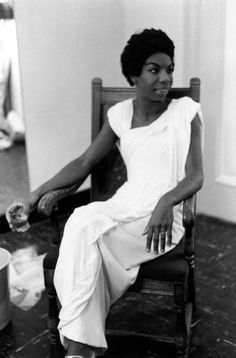 Nina Simone - An American Singer, Songwriter, Pianist, and Civil Rights Activist :: She worked in a broad range of styles and genres, but her classical background had a strong influence on her music. Her songs were extremely influential in the fight for equal rights in the United States. #GraveyardGreats #NinaSimone