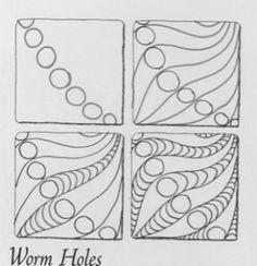 worm holes zentangle