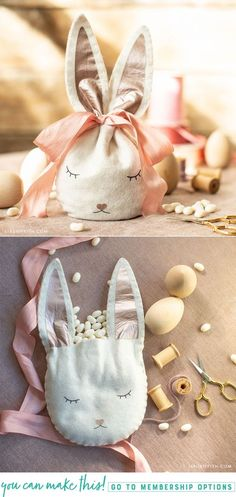labor day crafts for kids Our felt Easter bunny treat bag is a darling addition to your kid's Easter basket. See how simple it is to make with our iron-on design. Easter Crafts For Toddlers, Toddler Crafts, Easter Ideas, Easter Decor, Preschool Crafts, Jar Crafts, Felt Crafts, Bunny Bags, Diy Ostern