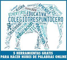 NUBES DE PALABRAS. Las 5 mejores herramientas GRATIS online.
