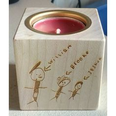 Personalised Tealight holder - One side engraved