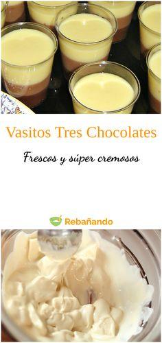 Tres Chocolates, Milkshake, Recipies, Gluten Free, Pudding, Baking, Fruit, Eat, Desserts