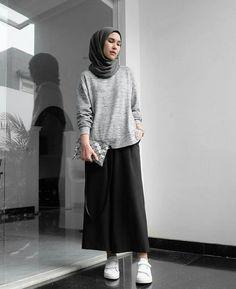Fashion Hijab Casual Outfit 61 Ideas For 2019 Hijab Casual, Hijab Chic, Ootd Hijab, Hijab Fashion Casual, Casual Chic, Simple Hijab, Hijab Wear, Street Hijab Fashion, Muslim Fashion