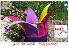 Jester Hat Pattern.  Easy and fun to make.  Fits children 6 to18 months. FREE POSTAGE.. $6.00, via Etsy.