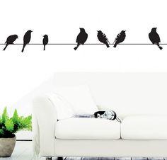 מדבקת קיר miso birds