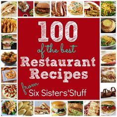 100 of the Best Copycat Restaurant Recipes! You'll never need to eat out again! #recipes #dinner #copycat