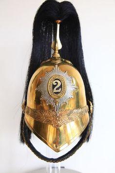 British Victorian 2nd Dragoon Guards Other Ranks 1871 Pattern Helmet