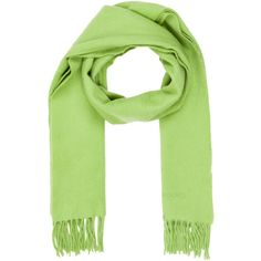 Pre-owned Herm�s Casmere Scarf ($395) ❤ liked on Polyvore featuring accessories, scarves, green, hermès, green scarves, cashmere shawl, hermes shawl and green shawl