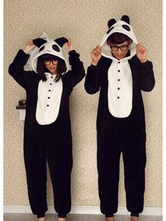 Fleece Red Tear Panda Adult Onesie Pajamas